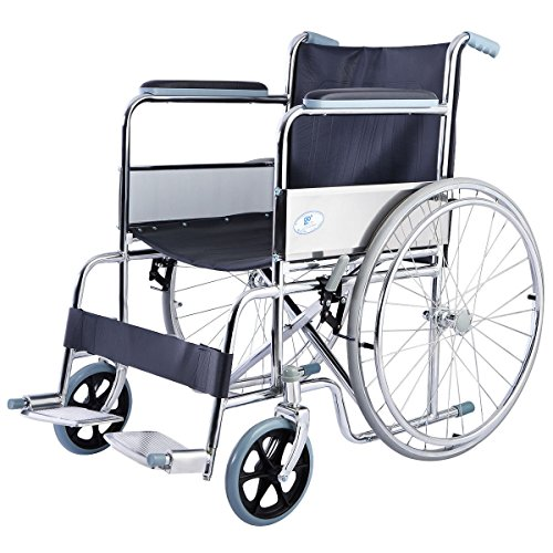 Giantex 24'' Lightweight Foldable Folding Wheelchair w/Swingaway Footrest FDA Certificate