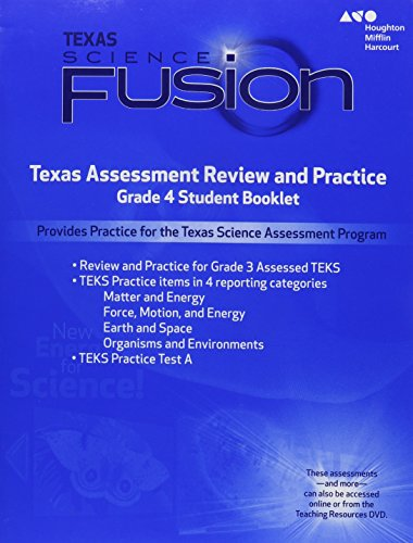 Houghton Mifflin Harcourt Science Fusion Texas: Texas Assessment Review and Practice Grade 4