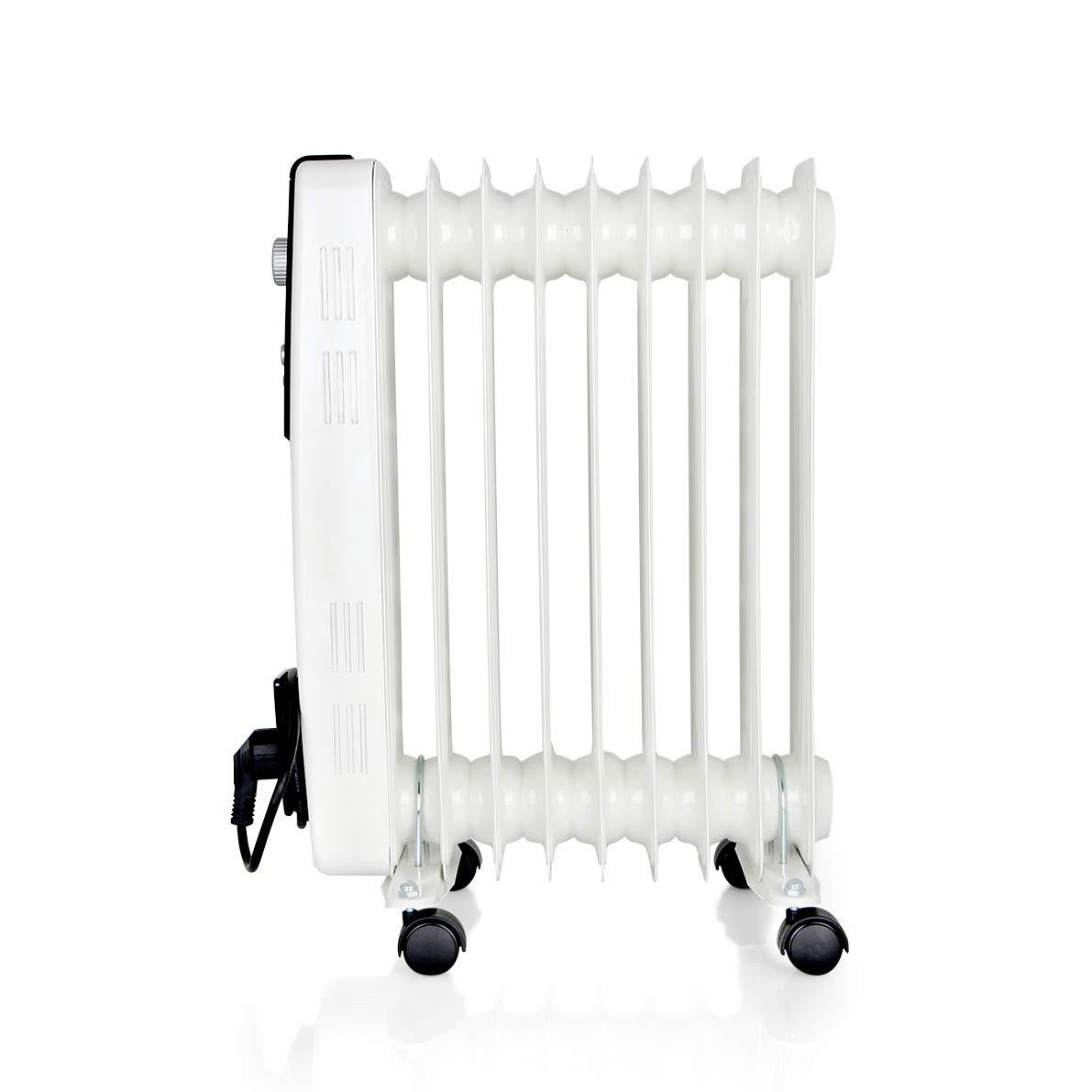 Orbegozo RH 2000 Radiador de Aceite, 2000W de Potencia, 9 Elementos y diseño en Color Blanco: Amazon.es: Hogar