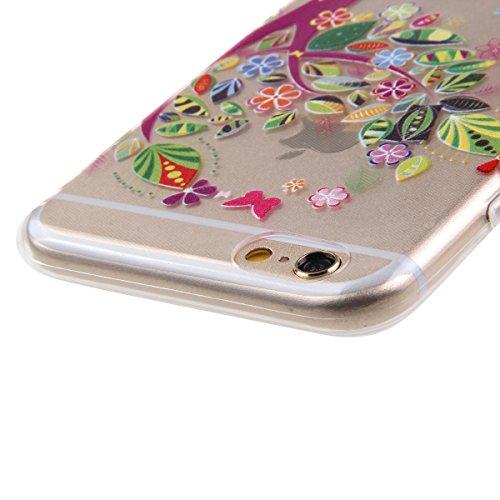 Ekakashop iPhone 5c Soft Silicone Fashion Coque Couverture, Belle Motif de Série fleur fée [Scratch-Resistant] [Ultra Mince] [Ultra léger] Doux Souple Flexible TPU Gel Transparente Case Cover Housse É