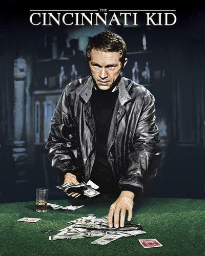 The Cincinnati Kid Steve McQueen poker playing cards money classic art Photo 8x10 Promotional Photograph