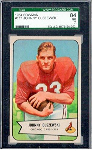 1954 Bowman Johnny Olszewski Chicao Cardinals SGC 84 nm - Football Cards 1954