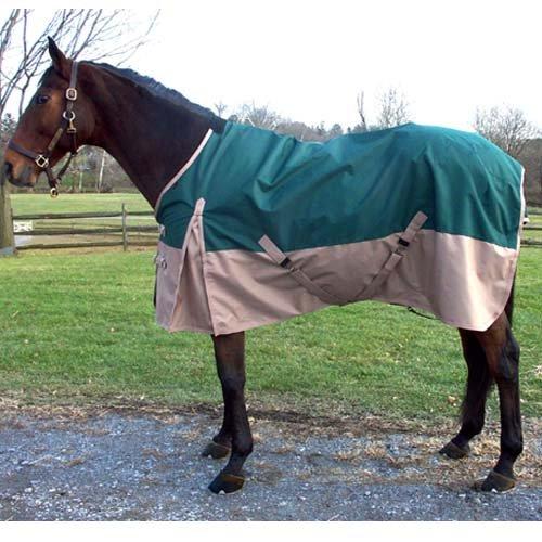 Intrepid International Free Runner Turnout Rain Sheet, Green, (Horse Turnout Sheet)