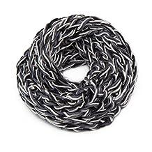 HUAN XUN Women's Crochet Circle Infinity Scarf Chunky Snood for Fall Winter
