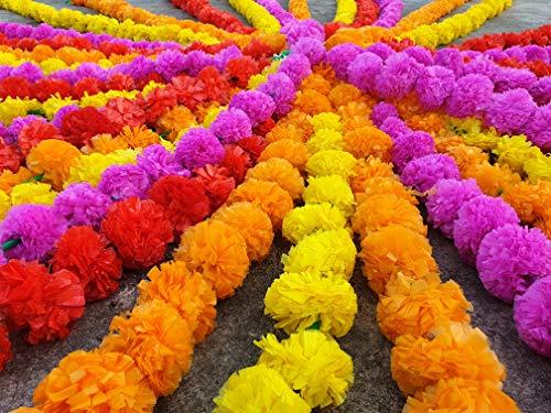 20 pcs lot Real Look Artificial Garlands Marigold Flower Garland Christmas Wedding Party Decor Flowers Mix Color Home Decor Christmas Decor