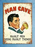 Metal Plaques Vintage Retro Style Mancave Manly Shed Men Tin Wall Den Bar Signs