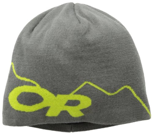 Outdoor Research Storm Beanie, Pewter/Lemongrass, (Outdoor Research Wool Beanie)