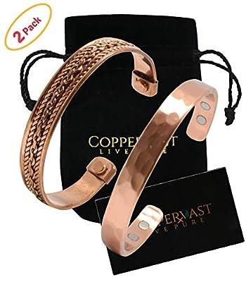 2 Handmade Copper bracelets