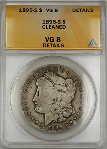 1895 S Morgan Silver Dollar VG-08 ANACS