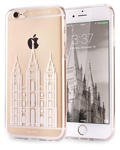 Salt Lake Temple LDS Art iPhone 6 plus / iPhone 6s plus Transparent Jelly Case (Salt lake temple)