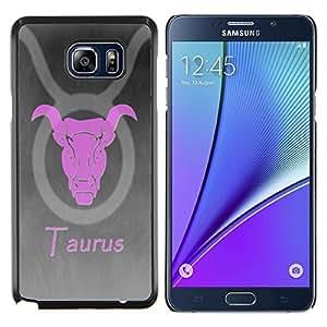 Stuss Case / Funda Carcasa protectora - Rosa Tauro - Samsung Galaxy Note 5 5th N9200