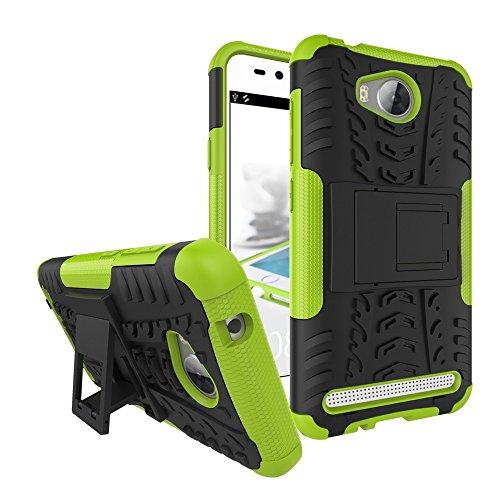 YAJIE-Carcasa Funda Para Huawei Y3 II / Y3 2, nueva carcasa de doble armadura híbrida desmontable [Kickstand] 2 en 1 resistente a prueba de golpes cubierta de la caja resistente ( Color : Red ) Green