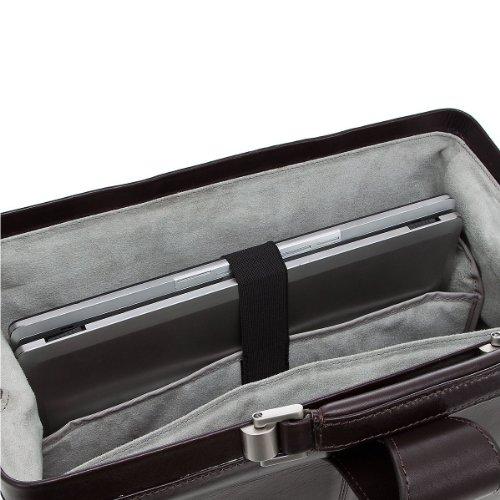 Dermata Business Bügelmappe aus Leder 40 cm dunkelbraun