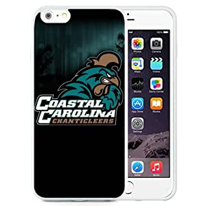 Fashionable And Unique Custom Designed With NCAA Big South Conference Coastal Carolina Chanticleers 4 Protective Cell Phone Hardshell Cover Case For iPhone 6 Plus 5.5 Inch White