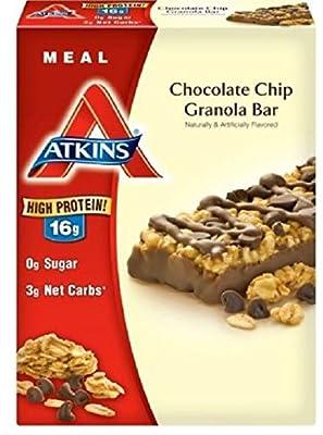 Atkins Advantage Bars, Chocolate Chip Granola, 1.7-Ounce Bars, 12 Count
