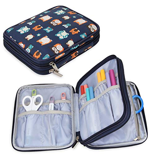 Yarwo Carrying Bag for Cricut Accessories, Organizer Case for Cricut Pen Set and Basic Tool Set Storage, Owls Pattern…