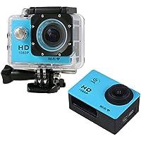Boyiya Mini 1080P Full HD DV Sports Recorder Car Waterproof 170°Wide Angle Action Camera Camcorder (Sky Blue)