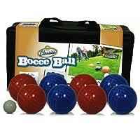 Juegos de la calzada 90mm Backyard Bocce Set. 8 bolas, paleta y bolsa para Bachi para 4 jugadores