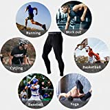 Men's Compression Pants 3 Packs Running Cool Dry