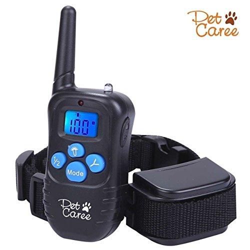Dog Training Collar, Upgraded Sokos LED Backlight Rechargable 330YD Remote Dog Training Shock Collar, Beep Vibration Electronic Electric Collar (Blue)