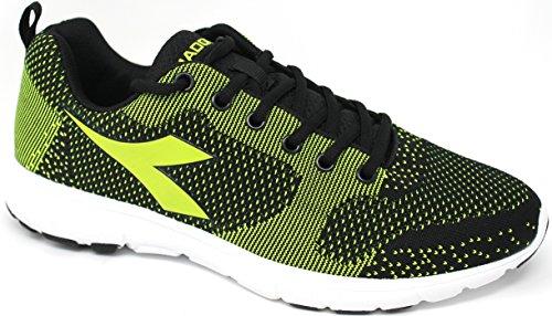 Diadora zapatos Running Hombre–X Run Light–�?72478-c6003–Negro/Amarillo Neón/bianco-45