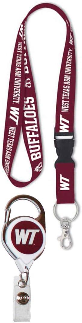 Wincraft Snack Schale Bundle 2 Produkte West Texas A M Buffaloes 1 Schlüsselband Und 1 Premium Badge Reel Sport Freizeit