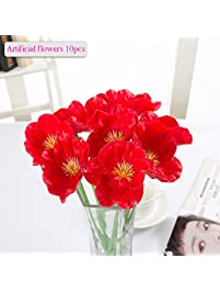artificial flowers meiwo 10 pcs nearly natural artificial poppies flowers for wedding bouquets home - Flowers For Home Decor