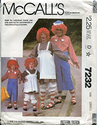 McCal (Raggedy Andy Costume Pattern)