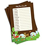 Word Scramble - Baby Shower Game - Woodlands Theme (50-sheets)