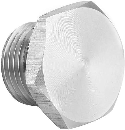 KIMISS Oxygen Sensor Bung,M18 Exhaust Pipe Oxygen Sensor Plug Aluminum Alloy Bung Stub Universal Parts