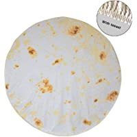 Tortilla Wrap Blanket,Be a Giant Human Burrito, Carpet for Office Home Living Room Bedroom Camping Picnic Outdoor