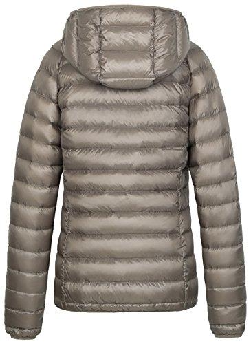 Coat Hooded Insulated Wantdo Down Khaki Jacket Women's Lightweight Packable qU0wCgp