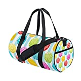 U LIFE Valentines Day Candy Colorful Love You Summer Spring Sports Gym Shoulder Handy Duffel Bags for Women Men Kids Boys Girls
