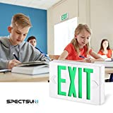 SPECTSUN Led Exit Sign with Battery Backup, Green