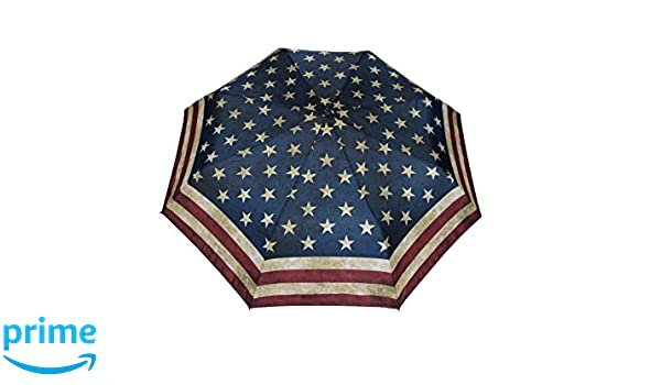 Paraguas plegable automático de la bandera de EE. UU. Vintage Stick paraguas: Amazon.es: Equipaje