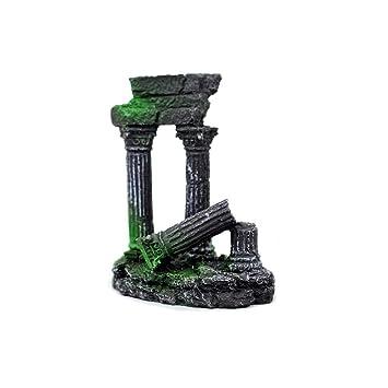 OMEM Decoración para pecera, columna romana rota, adornos para acuario: Amazon.es: Productos para mascotas