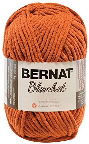 8 Mm Pumpkin - Bernat Blanket Yarn, 10.5 Ounce, Pumpkin Spice, Single Ball