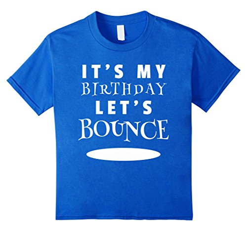 Price comparison product image Kids Trampoline Birthday Party Shirt 8 Royal Blue