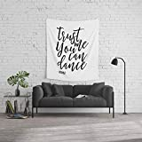 Society6 Wall Tapestry, Size Medium: 68'' x 80'', Trust me You an Dance Vodka,Funny Print,Quote Prints,Wall Art,Alcohol Sign,Drink Sign,Typography Art by alextypography