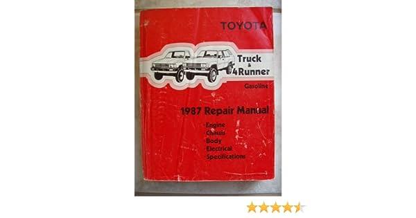 1987 toyota truck and 4runner gasoline repair manual toyota motor 1987 toyota truck and 4runner gasoline repair manual toyota motor corporation amazon books fandeluxe Gallery