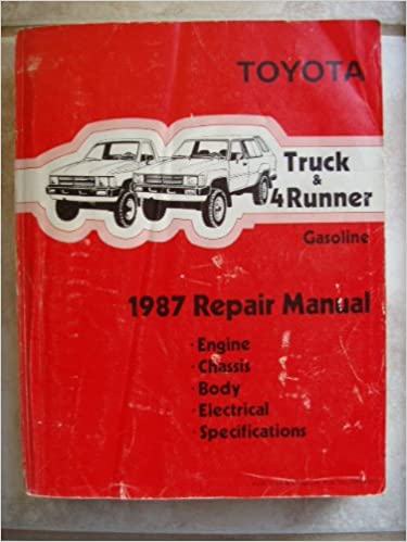 1987 toyota truck and 4runner gasoline repair manual toyota motor 1987 toyota truck and 4runner gasoline repair manual toyota motor corporation amazon books fandeluxe Choice Image