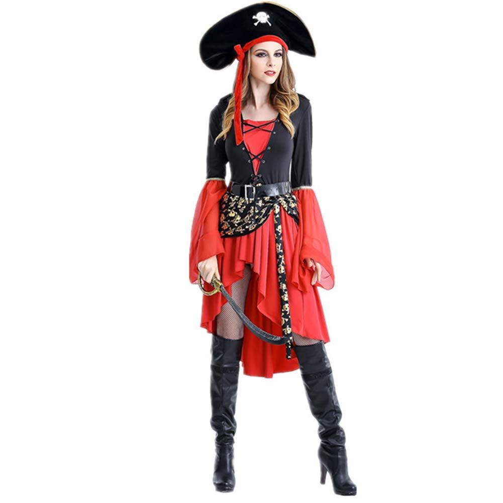 SC Disfraz De Pirata Femenino De Halloween Juego Uniforme ...