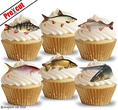 "Cake Bun Toppers 15 x Brown Leopard Print 2/"" Edible Pre-Cut Icing Cupcake"