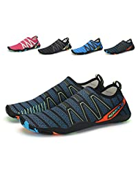 Leaproo Women/Men Water Aqua Socks Barefoot Quick Drying Anti-Slip Shoes Lightweight Multifunctional for Surf Sailing Yoga-Training River Trekking