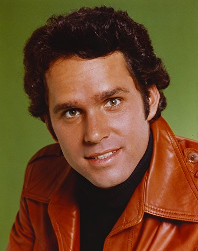 Gregory Harrison wearing Brown Leather Jacket Portrait Photo Print (24 x 30)