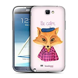 Head Case Designs Calm Hipster Animals in Watercolour Replacement Battery Back Cover for Samsung Galaxy Note 2 II N7100