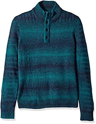 Calvin Klein Mens Space-Dyed Long Sleeves Sweater