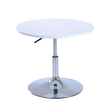 Amazon homcom 24 adjustable height round indoor outdoor bar homcom 24quot adjustable height round indoor outdoor barbistro table white watchthetrailerfo