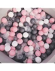 مجموعة كرات بلاستيكية ارتدادية ملوّنة صديقة للبيئة بمقاس 5.5 سم، مناسبة للاطفال وللعب في المياه وفي المنزل، عبوة من 100 كرة