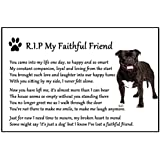 Staffordshire Bull Terrier Dog Bereavement Gift Magnet Staffy Staffie - RIP My Faithful Friend - dog loss, sympathy, memorial Flexible Magnet 6 x 4 by Fridge Magnets